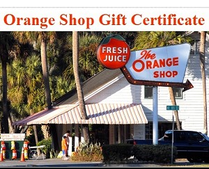 Orange Shop Gift Certificates