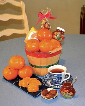1/2 Peck Tea Time Basket with Tangerines